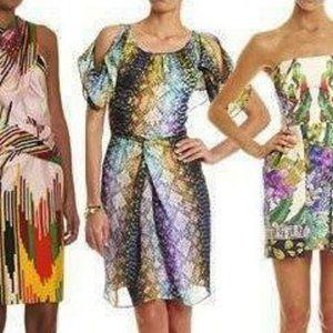 Lisa Ho Silk Sheath Dress Size 12 Alligator Print